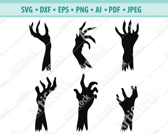 Halloween Zombie Hands Svg Dxf Png Digital Download Files For Etsy Pikbest has 200 zombie silhouette design images templates for free. halloween zombie hands svg dxf png digital download files for silhouette cricut vector clip art graphics vinyl cutting machine screen print