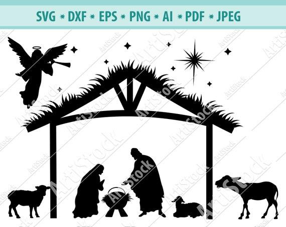 Nativity Svg Nativity Scene Svg Christmas Svg Holiday Etsy