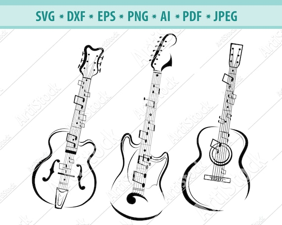 E-Gitarre isoliert - Download Kostenlos Vector, Clipart Graphics,  Vektorgrafiken und Design Vorlagen