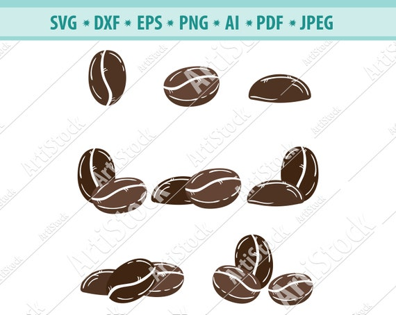 Coffee Beans Svg Eps Png Ai Dxf Format Download Coffee Beans Clipart Coffee Beans Cut File Svg Vector Coffee Cricut Coffee Beans Download