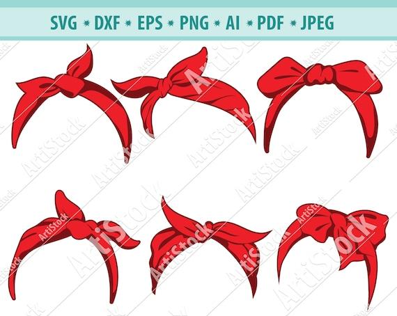 . Clip Art silhouettes Cut files for Cricut Bandana eps, svg, pdf, png, dxf, jpeg