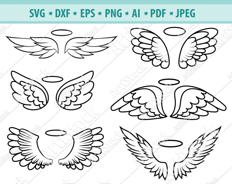 Download Angel Wings Svg Wings Cut File File For Cricut Heaven Svg Silhouette Cameo Halo Svg Wings Svg Fiile Wings Bundle Angel Wings Clipart Clip Art Art Collectibles Delage Com Br