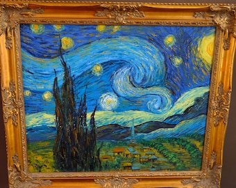 Vincent van Gogh  -    Reproduction of The Starry Night by Vincent van Gogh -
