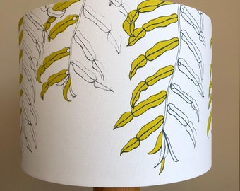 Lampshade hand screen printed