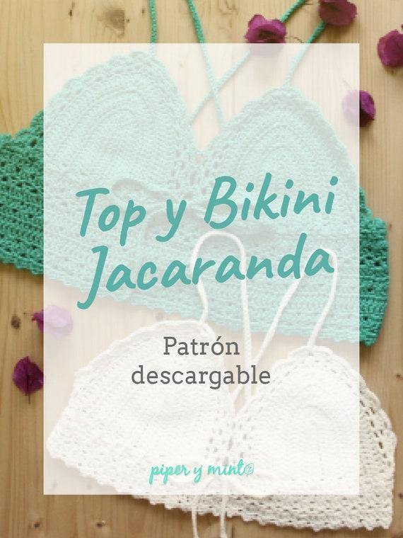 Patron PDF Crochet 2 en 1 Top y Bikini Jacaranda Piper y   Etsy