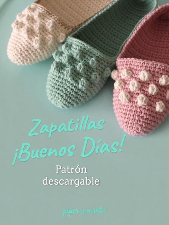 Patron PDF Crochet Zapatillas Buenos días Piper y Mint | Etsy