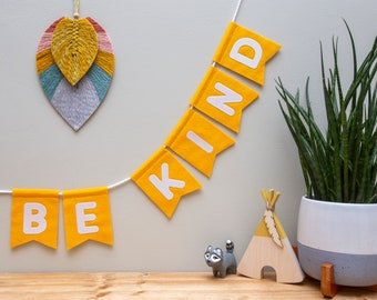Custom Word Glitter Bunting. Make Your Own Nursery Wall Decor. Wild. BE Kind. Explore. Love. Awesome.