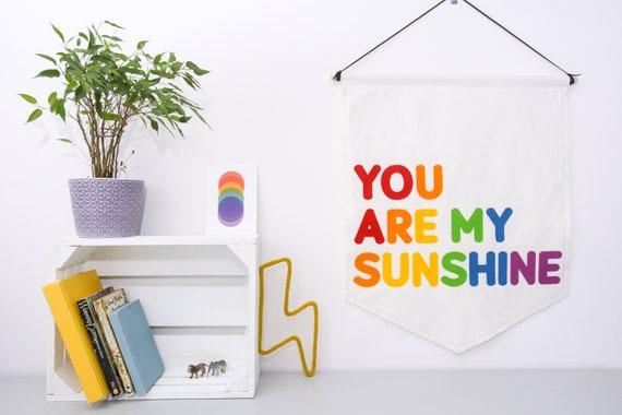 You Are My Sunshine Pennant Wall Banner /Flag. Nursery Decor. Felt Hanging.