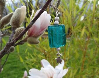 Madness - lagoon Blue glass earrings