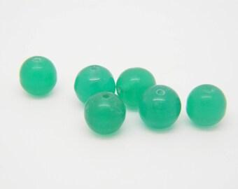 50 x Pearl round vintage green 7mm (rve05)