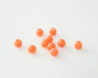 100 x Pearl round vintage orange 3mm (ro02)