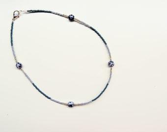 Faded ocean - midi necklace