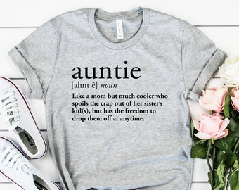 d702abef3d Auntie Definition Shirt | Gift For Aunts | Auntie Shirt | Funny Aunt Shirt  | Plus Size Shirt