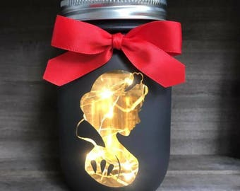 Snow White Mason Jar