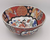 Large Fruit Bowl, Hand Painted Imari Arita Decor 25.5cm