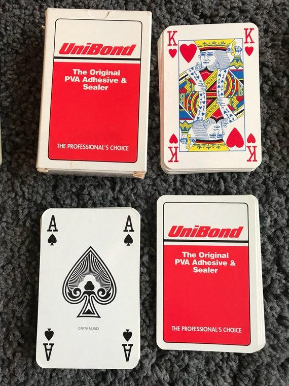 Cartes à jouer Unibond adhésif publicitaire pont utilisé en plastique enduit