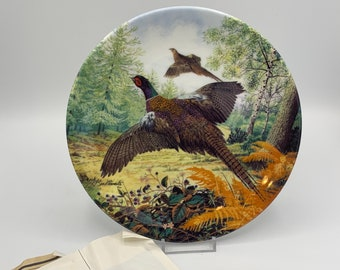 Royal Grafton Plate, Pheasants in Flight - Boxed with papers