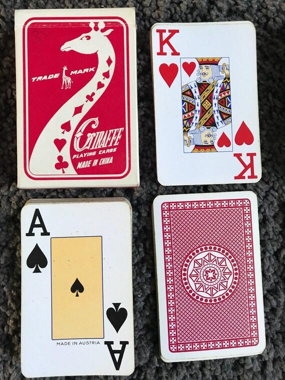 Utilisé girafe 600 deck de cartes à jouer vintage 1970 ' s