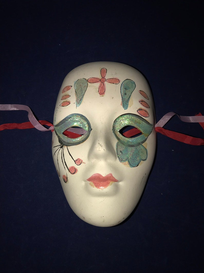 Opera  Pierrot Mask Hand Painted