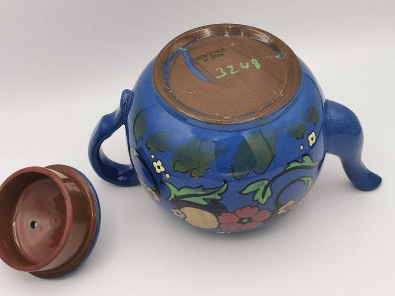 Vibrant Hand Painted Pot Vintage Teapot