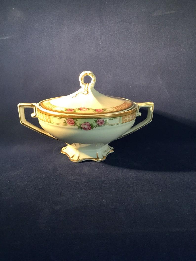 The Victory H Vintage Art Deco Grindley /& co Sugar Bowl  Condiment Pot