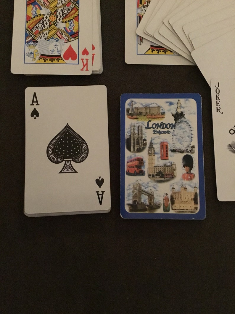 Vintage Playing Cards deck plastic coated London England