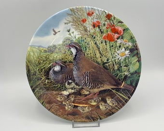 Royal Grafton Plate, Red-Legged Partridge - with papers