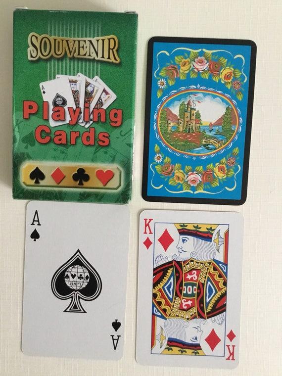 Souveneir plastique enduit, cartes à jouer.