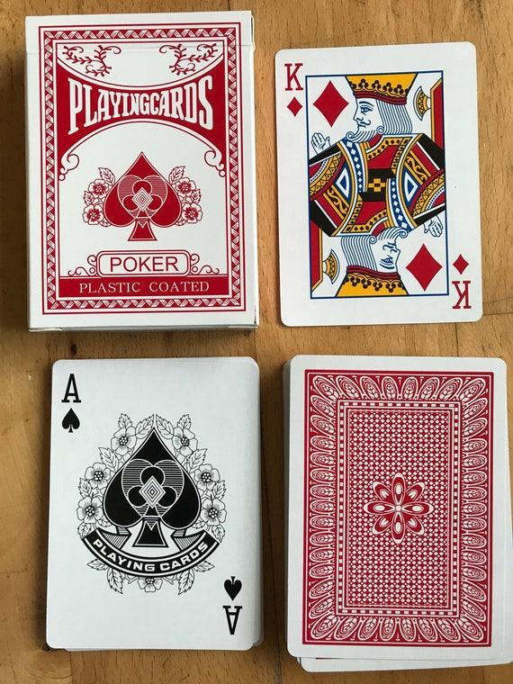 Utilisé en plastique enduit deck de cartes à jouer