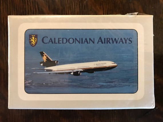 Scellé original emballage caladonian airways carte à jouer Deck