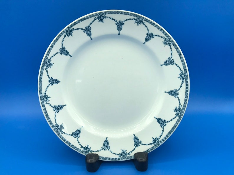 Losol Ware Kingston Dinner Plate  blue and white 25.1cm circa 1910