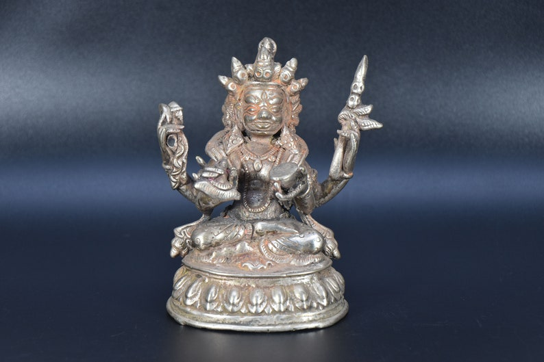 19th Century Antique Nepal Mahakal Statue handicraft Mahakala God vintage  Mahakala statue