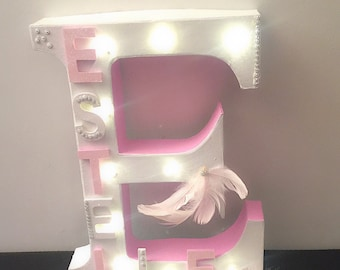 Personalized letters as per your choice with or without Led