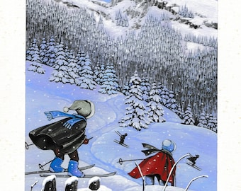 Small ski scene