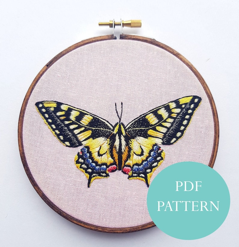 Yellow Butterfly PDF Digital Instant Download Pattern/ image 0