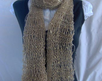 SCARF with sequins gold LUREX