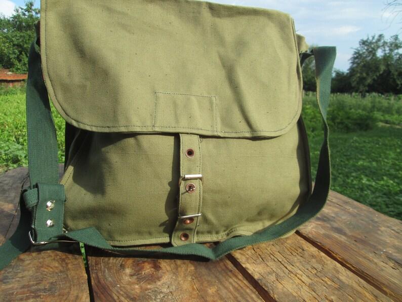 35ae42274c Vintage canvas bag, Military bag, Army bag, Green sholder bag, Hiking bag,  Camping bag, Gift idea, Mountain bag, Messenger Bag, Army pouch