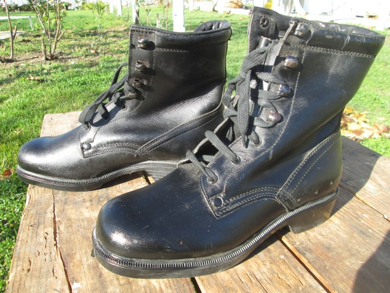 Military leather boots, Combat leather boots, Vint