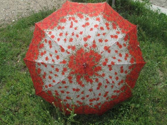 Umbrella 1960s, Vintage Umbrella, Rain Umbrella, R