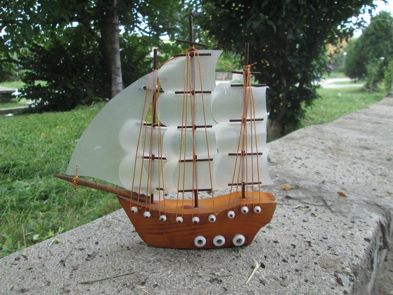 Wooden Model Ship Vintage Wooden Ship Handmade Wooden Ship Decorative Ship Nautical Decor Vintage Home Decor Gift Idea Collectibles