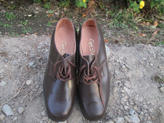 Vintage military shoes, Brown leather shoes, Offi… - image 10