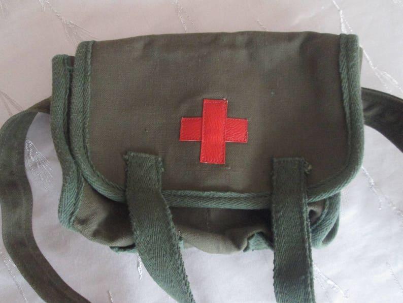 77294d7de8 Мilitary medical bag Vintage Army bag Canvas bag Bulgarian
