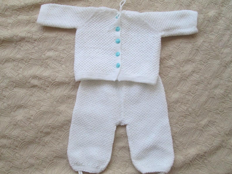 9bb52bb5c9b0 Hand-knit baby clothes Suit of 2 pieces Waistcoat and pants