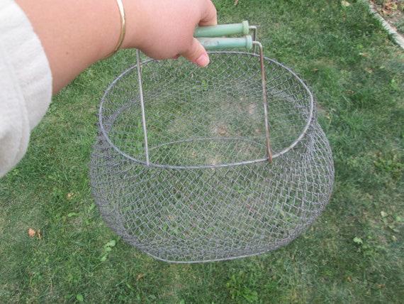 Metal basket, Vintage wire basket, Folding basket,