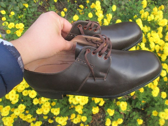 Vintage military shoes, Brown leather shoes, Offi… - image 3