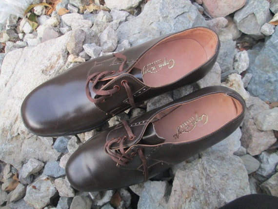 Vintage military shoes, Brown leather shoes, Offi… - image 4