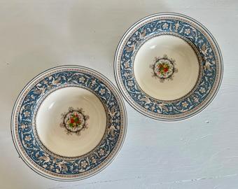 # Myott The Brook Vintage English china set of 4 cereal  or dessert bowls