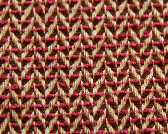 thick fabric coupon beige and Burgundy 80 X 60 cm