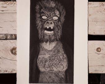 Aquatint / Guerrilla Girls Tribute / Entramados / Printmaking etching