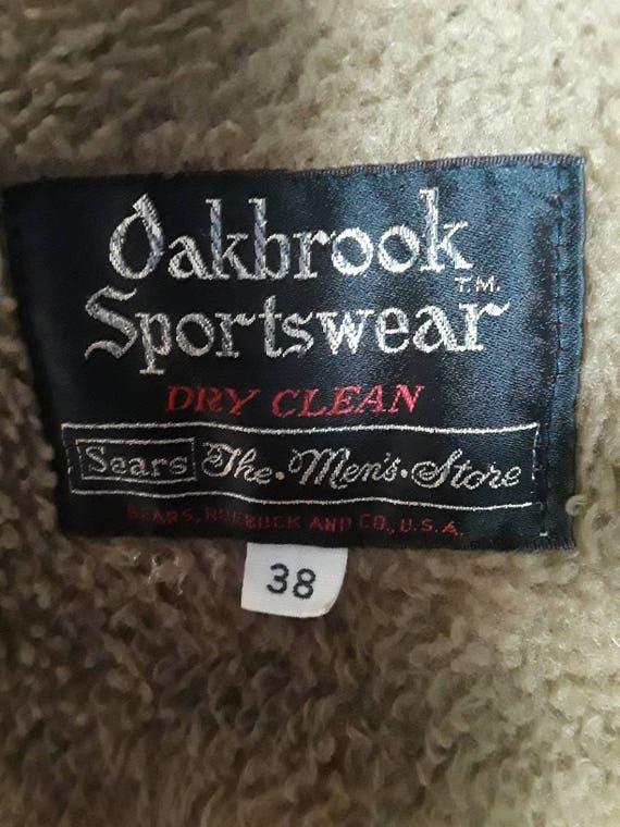 Vintage Sears Homme 38 En Pour Marron Oakbrook Côtelé Cuir Manteau Bouton Taille D'hiver Velours Poches Quatre Sportswear Veste 35qRLj4A